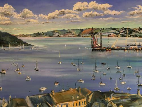 Falmouth Harbour painting 021