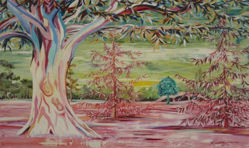 Donnington Grove, Acrylic on Canvas, 151cm x 90cm