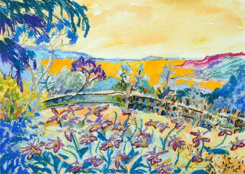 Field of sunshine Mixed Media 29cm x 42cm