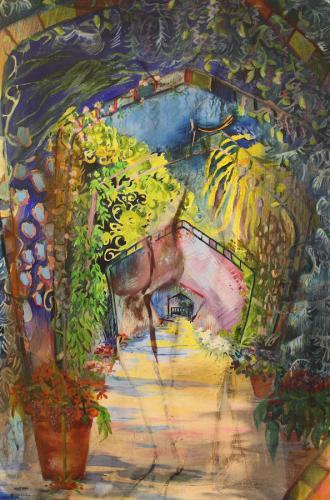 Golden Temple Walk. Oil on Canvas. 92 x 61cm