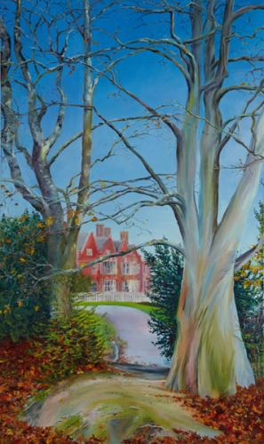 Marlston House, Oil on Canvas, 153cm x 92cm