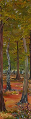 Snelesmore Common 2. Oil on Canvas 90cm x 46cm