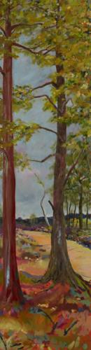Snelsmore Common 3. Oil on Canvas 90cm x 46cm