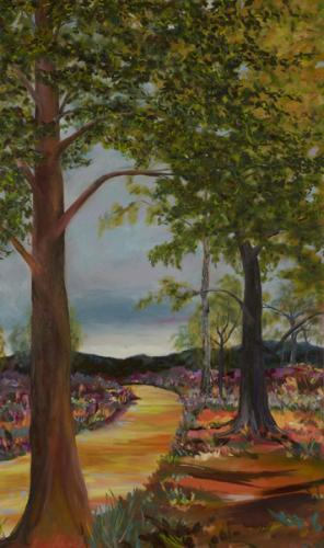 Snelsmore Common 4. Oil on Canvas 151cm x 90cm