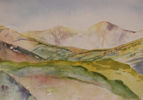 Welsh Mountain Sketch. Watercolour 21 x 15 cm