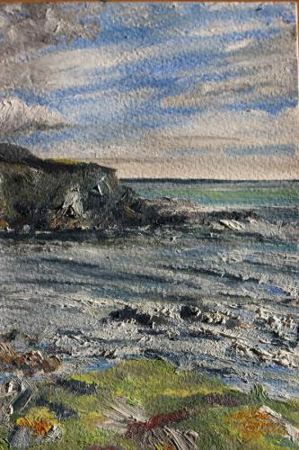 South Cornwall. Oil on Paper. 21 x15 cm