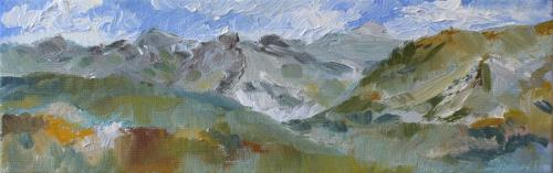 Towards Zell am See. Oil on Canvas 30 x 10cm. sold