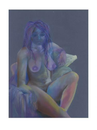 Billie, Chalk paper on Paper, 105cm x 85cm framed