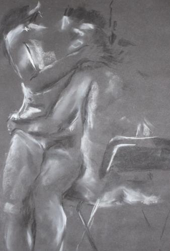 Compassion. Charcoal. 63 x 51cm