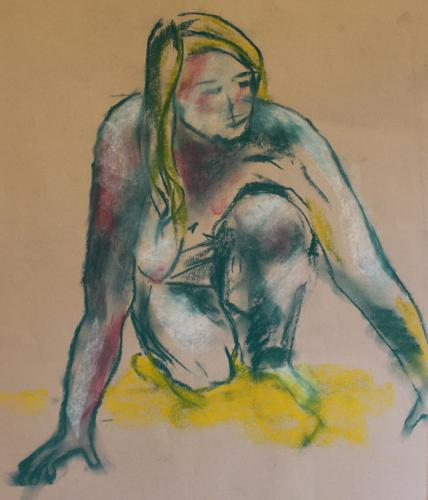 Dr. Lola. Chalk pastel. 64 x 51cm