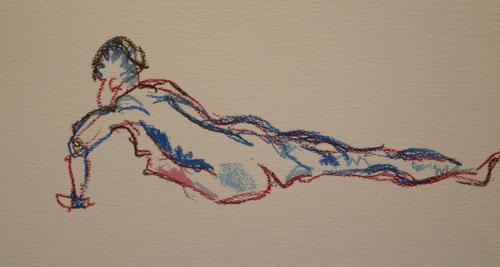 Extend. Oil pastel. 40 x 30cm