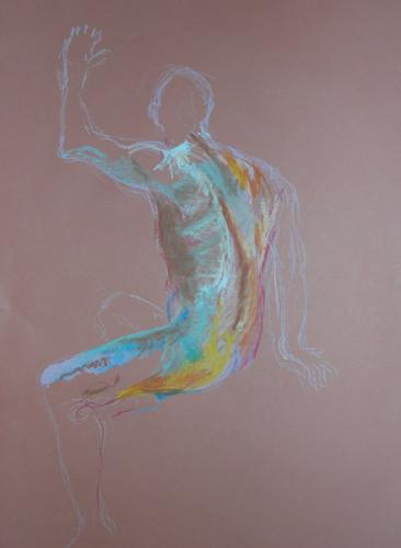 Hand up, Oil pastel 59cm x 84cm