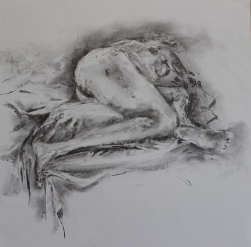 Slumber. charcoal. 64 x 45cm