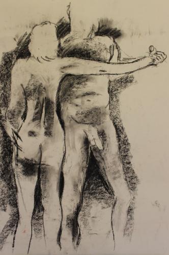 Studies, Charcoal, 84 x 60cm