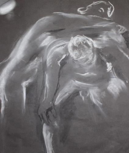 Support. Charcoal. 63 x 51cm