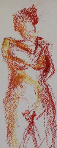 Warmth. Oil Pastel. 24 x 18cm